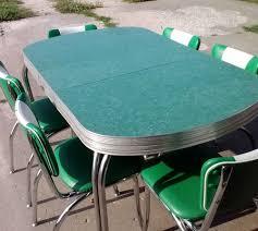 S Vintage Retro Green Chrome Dinette Table W Chairs W - Chrome kitchen table