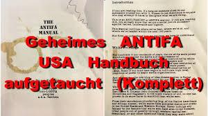 Komplettk He Geheimes Antifa Handbuch In Usa Aufgetaucht Komplett