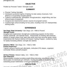 Sample Fitness Instructor Resume by Entry Level Personal Trainer Resume Resume For Your Job Application