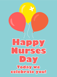 nurses day balloons celebrating you happy nurses day card birthday greeting cards