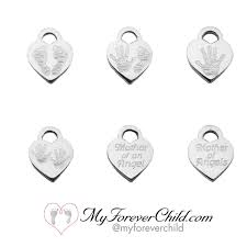 engraved charms pregnancy and infant loss awareness personalized bracelet