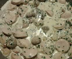 cuisiner boudin blanc blanquette de boudin blanc recette de blanquette de boudin blanc