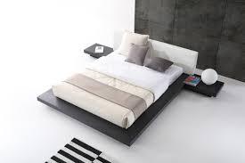 White Platform Bed Frame Opal Modern Wenge White Platform Bed