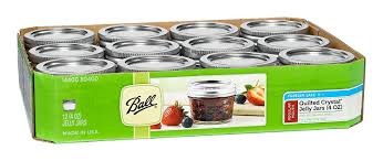 amazon com ball mason 4oz quilted jelly jars with lids and bands amazon com ball mason 4oz quilted jelly jars with lids and bands set of 12 food savers kitchen dining