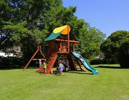 wooden swing sets outdoor playsets redwood playsets backyard