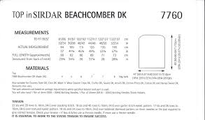 beachcomber dk 7760 top knitting pattern
