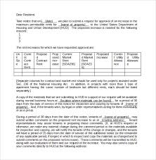 Rent Increase Letter Ma sle rent increase letter 8 documents in word pdf