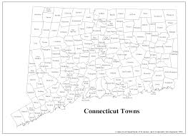 Blank Map Of Northeast States by Decd Connecticut Maps