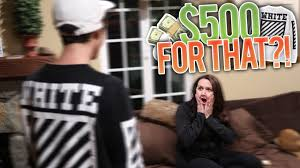 mom reacts to buying 500 off white sweatshirt youtube