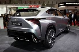 lexus crossover turbo lexus lf nx concept shows its edgy body with new 2 0l turbo in tokyo