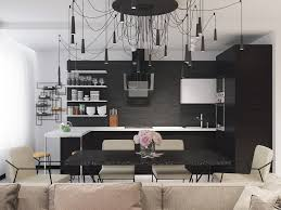 Black And White Kitchen Tile by Kitchen Designs Minimalist Black And White Kitchen 40 Beautiful