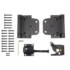 Decorative Hinges Home Depot by Everbilt Black Decorative Gate Hinge And Latch Set 15472 The