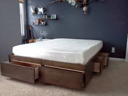 Platform Bed With Drawers Building Plans by Wonderful Platform Beds Diy Bed Frame And Design Ideas
