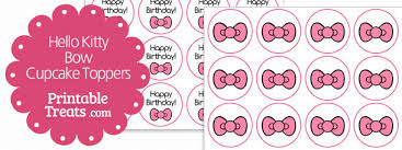 hello bow pink hello bow cupcake toppers printable treats