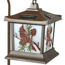 moonrays 92270 cardinal solar light stained glass outdoor l