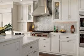 Kitchens With Stainless Steel Backsplash Pretty Stainless Steel Kitchen Backsplash On Glass Subway Tile