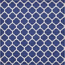 Square Area Rugs 10 X 10 Dark Blue 10 U0027 X 10 U0027 Trellis Square Rug Area Rugs Esalerugs