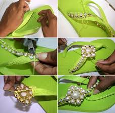 How To Decorate Shoes 15 Diy Flip Flop Ideas How To Decorate Your Summer Sandals