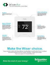 schneider electric wiser air wi fi smart programmable thermostat