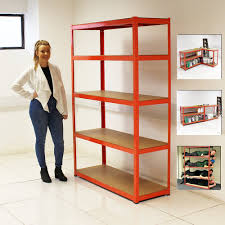 set 3 heavy duty 5 tier shelf shelving units garage storage