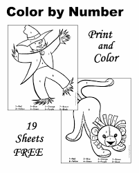 color by number free and printable