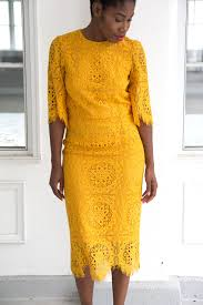 yellow dress for wedding wedding guest the yellow lace dress sincerely miss j