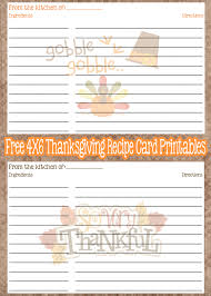 free printable thanksgiving recipe cards everyday made fresh