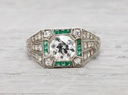 vintage engagement ring settings erstwhile jewelry