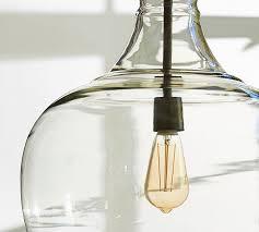 green glass pendant lights flynn oversized recycled glass pendant pottery barn