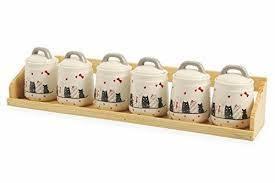 barattoli portaspezie galileo villa d este set 6 barattoli portaspezie con supporto in