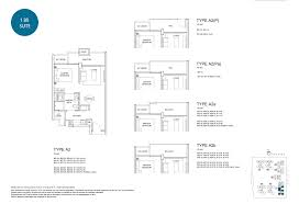 1 Bedroom Condo Floor Plans by Santorini Tampines Condominium Floor Plans