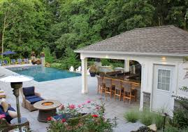 pool house with bathroom custom carpentry cabanas pool houses long island