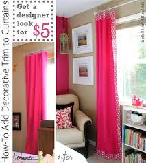 add decorative trim curtains for cheap burger
