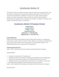 construction worker resume awesome collection of resume for construction worker resume for
