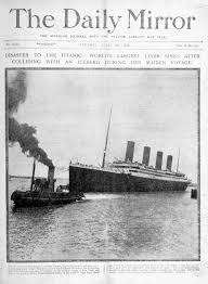 the daily mirror coverage of the sinking of the titanic april 16
