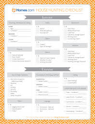 printable house hunting checklist meant for buying a home but it