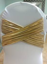spandex chair bands diamond x white spandex chair cover with gold metallic band