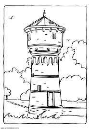 coloriage chateau à colorier allofamille