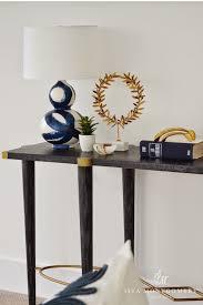 brush stroke lamp transitional living room