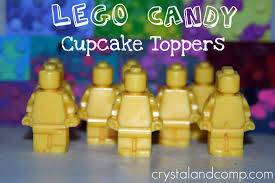 how to use candy as cupcake toppers lego birthday party
