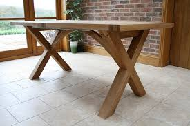 Extending Wood Dining Table Cross Leg Dining Tables Extending X Leg Tables Oxbow Table