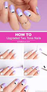 next level two tone nails tutorial provided