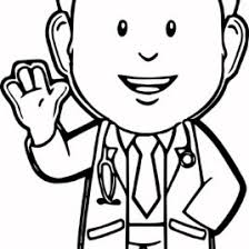 coloring page of a doctor kids drawing and coloring pages marisa