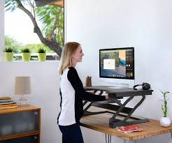 Sit Stand Desk Reviews by Amazon Com Ergotronhome Workspace Lift35 Sit Or Stand Adjustable