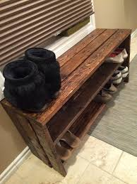 Diy Wooden Storage Bench by Best 25 Shoe Racks Ideas On Pinterest Diy Shoe Storage Slim