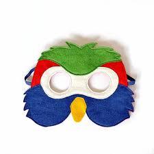 Halloween Costumes Parrots Kids Parrot Mask Bird Mask Kids Halloween Carnival Dress