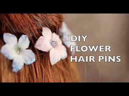 flower hair pins how to make flower hair pins