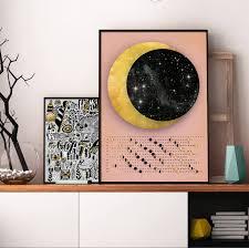 Home Decor 2018 by Moon Calendar 2018 Wall Calendar 2018 Lunar Calendar Custom