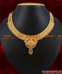necklace designs images Gold plated guarantee necklace traditional culcutta choker design jpg