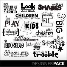 word design digital scrapbooking kits kid word word design